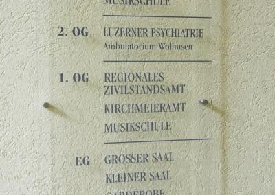Plexiglas-Schild Josefshaus Wolhusen