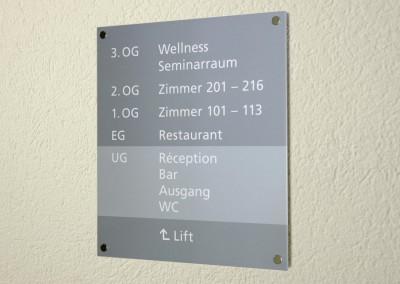 Schild Hotel Rischli, Dekofix